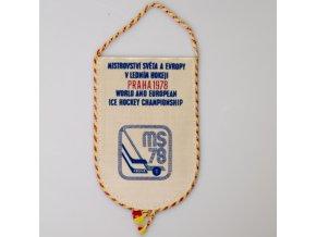 Autovlajka klubová MS hokej 1978 Praha II