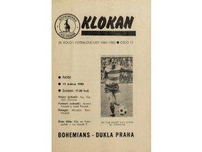 Program Klokan, S Bohemians vs. Dukla Praha, 198485