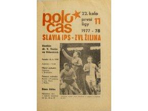 Poločas Slavia v. ZVL Žilina, 19771978