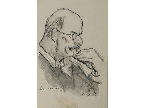 Pohlednice momentka ze schůze VII. sletu, Br. Karel Vaníček, 1920 (1)