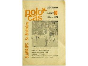 Poločas, Slavia Praha IPS vs. Slovan Bratislava 1978 79