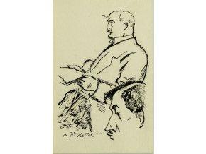 Pohlednice momentka ze schůze VII. sletu, Br. Dr. Vaníček, 1920 (1)