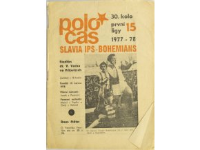 Poločas Slavia IPS vs. Bohemians Praha, 1977 78