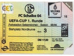 Vstupenka UEFA, Schalke 04 v. Slavia Prag, 1 runde, 1998, III