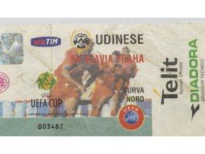 Vstupenka fotbal UDINESE vs. SK Slavia Praga, 2000 II (1)