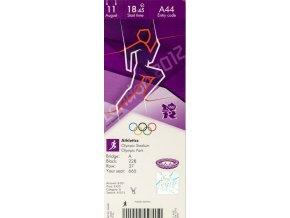 Vstupenka OG London 2012, Athletics, 11