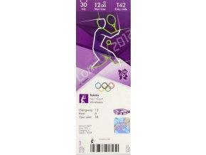 Vstupenka OG London 2012, Tennis, 30