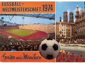 Pohlednice stadion, Fussball weltmeisterschaft Munchen, 1974 (1)