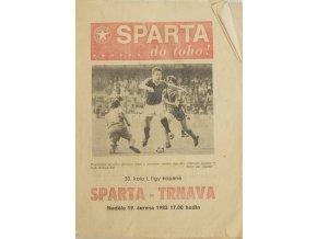 Program fotbal, Sparta ČKD Praha v. TAZ Trnava, 1983