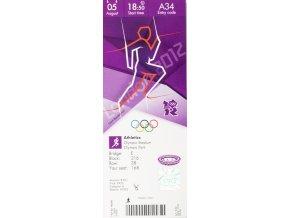 Vstupenka OG London 2012, Athletics, 05