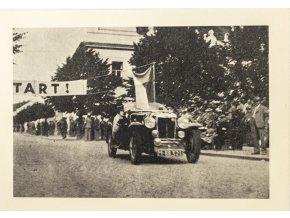 Korespondenční lístek , razítko Auto moto závody, Bohdanečský okruh 1937 (1)