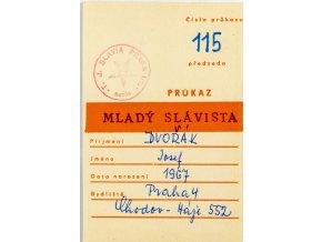 Průkaz , Mladý Slávista, č. 115, 1977 78 (1)