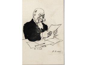 Pohlednice momentka ze schůze VII. sletu, Br. Ing L. Čížek, 1920 (1)