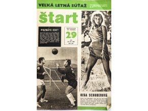 Časopis ŠTART, ročník XII, 20. VII. 1967, číslo 29