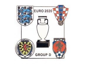 Odznak smalt Euro 2020, Group D, white