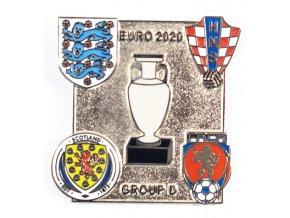 Odznak smalt Euro 2020, Group D, silver