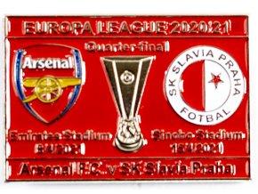 Odznak smalt Europa League 202021, Slavia v. Arsenal FC R8, red