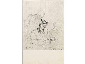 Pohlednice momentka ze schůze VII. sletu, Br. A. Dryák, 1920 (1)