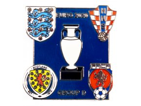Odznak smalt Euro 2020, Group D, dark blue