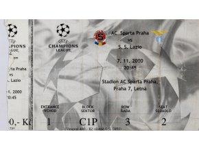 Vstupenka AC Sparta v. S.S. Lazio, CHL, 2000