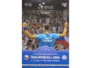 Official Program Davis Cup, Czech rep. v. Izrael, 2018