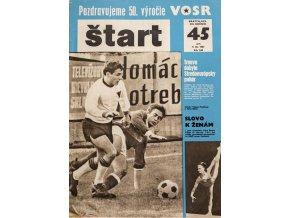 Časopis ŠTART, ročník XII, 9. XI. 1967, číslo 45