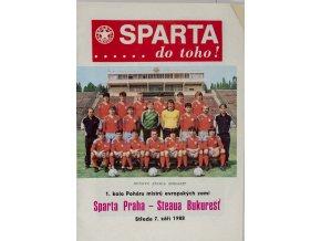 Program, Sparta, Do Toho!, AC Sparta Praha v. Steaua Bukurešť, 1988