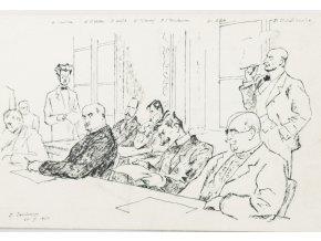 Pohlednice momentka ze schůze VII. sletu, Ze schůze výboru, 1920 (1)
