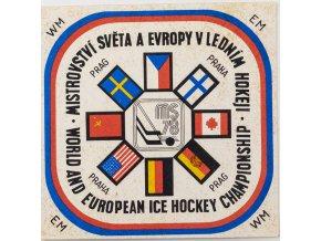 Samolepka 1978, MS Hokej Praha , bílá II