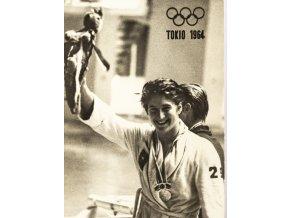 Pohlednice foto Tokio 1964, 100 m kraul, Dawn Fraser (1)