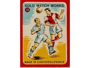 Zápalková nálepka, Fotbal, 1958