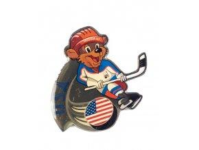 Odznak team USA, hokej WCH Russia, 2007