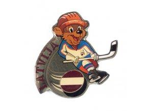 Odznak team Latvia, hokej WCH Russia, 2007