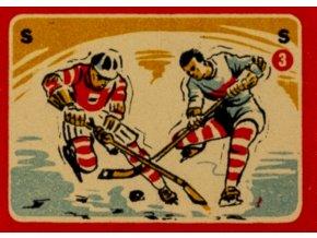 Zápalková nálepka, Lední hokej, 1958
