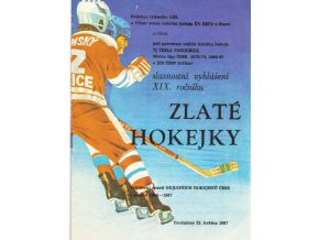 Program hokej, Tesla Pardubice , Vyhlášení XIX. Zlaté hokejky, 1987