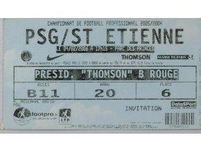 Vstupenka ,PSg v. St. Etienne, 2006