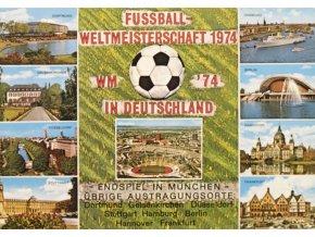 Pohlednice Fussball WM 1974, Deutscheland