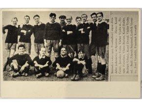 Fotografie, Snímek z roku 1925, divadelní jedenáctka se Spartou