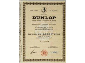 Akcie, Dunlop, 5000 Francs, kupóny (1)