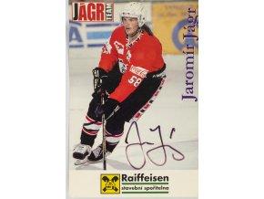 Fotografie kartička, Jaromír Jágr, autogram