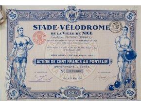 Akcie, Stade Vélodrome de la Ville de Nice, 1925 II (1)