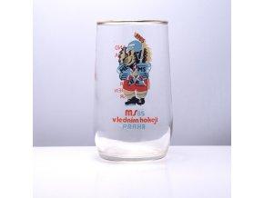 Sklenice MS hokej Praha 1985 0,2 l