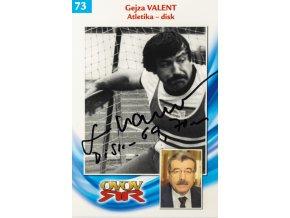 Podpisová karta, Gejza Valent, autogram (1)
