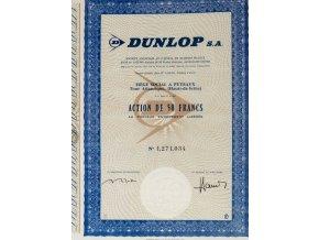 Akcie, Dunlop, 50 Francs, kupóny (1)