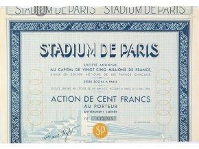 Akcie, Stadium de Paris, kupóny (1)