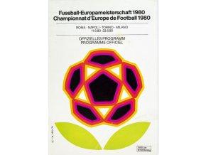 Oficiální program fotbal, ME 1980 (1)