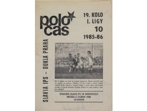 Poločas Slavia Praha vs. Dukla Praha, 1985 86