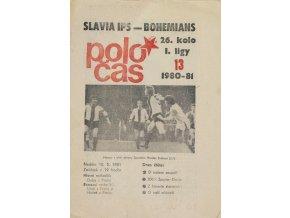 Poločas Slavia Praha vs. Bohemians, 1980 81