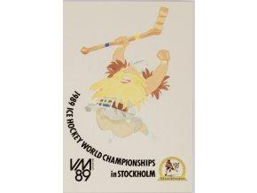 Pohlednice WM, Ice hockey, Stockholm, 1989 (1)