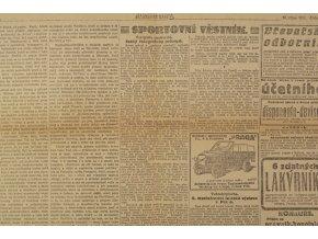 Noviny Národní listy, fragment, 1921